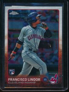 2015-Topps-Chrome-Francisco-Lindor-SP-RC-202-Rookie-Card-Indians-Damaged-Back