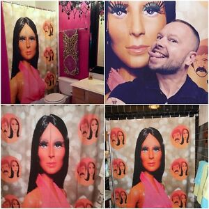 Shower-Curtain-70-039-s-Mego-Cher-Sonny-and-Cher-Show