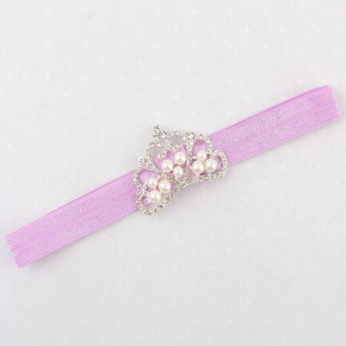 Pearls Elastic Crown Princess Headbands Hair Accessories Headwear Hairband