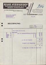 BERLIN-FINKENKRUG, Rechnung 1929, Wahl Eversharp Vertriebsges. m.b.H. Füllstifte