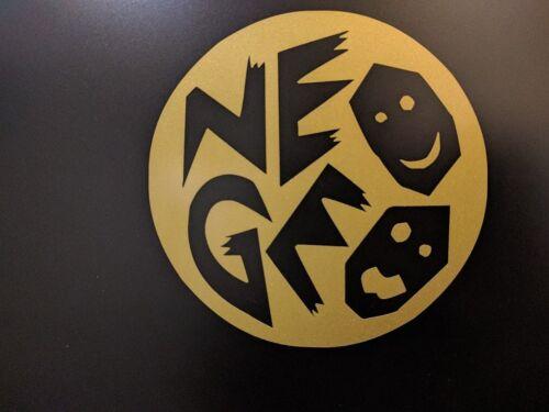 "Vinyl Decal Sticker 2/"" x 2/"" 5cm x 5cm 4 pack NEOGEO Neo GEO NEO.GEO Gold Met"