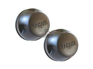 Pair of Genuine Yamaha Hub Nut Caps for Grizzly 700  Quad Bike Parts