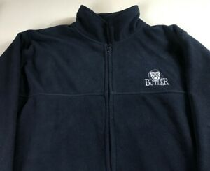Butler-Bulldogs-Fleece-Jacket-Mens-XL-Student-Alumni-Coat-Warm-University-Grad