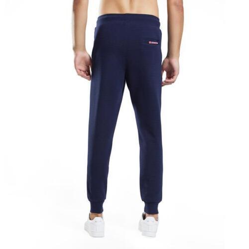 Mens Cotton Knit slim Fit GYM Joggers stretch Scuba tracksuit skinny bottom pant