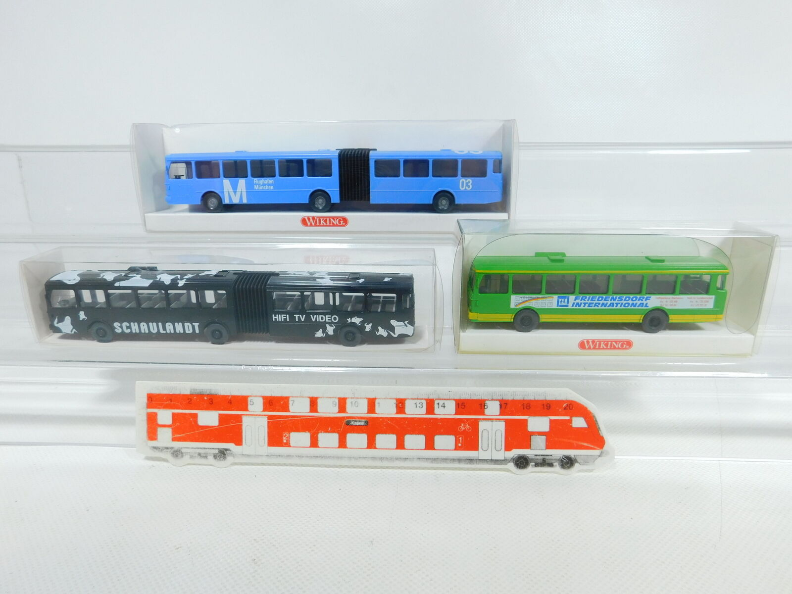 Bv952-0, 5  3x WIKING h0 1 87 Bus MB  70532 + 7050131 + FRIEDENSDORF, Neuw + neuf dans sa boîte