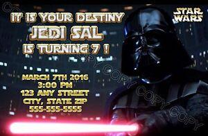 Image Is Loading Darth Vader Star Wars Birthday Party Invitations W