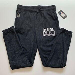NBA-Logo-Mens-Casual-Sweatpants-Trackies-Black-Size-M-Athletic-Sports-Gym