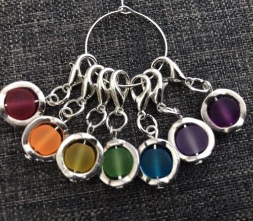 Stitch Markers Rainbow Chakra Charms Chakra Counters