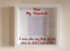 IKEA RIBBA Box Frame Personalised Vinyl Wall Art Quote My Stepdad