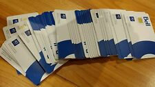 LOT of 100 Bell Micro LTE Sim Card wholesale bulk
