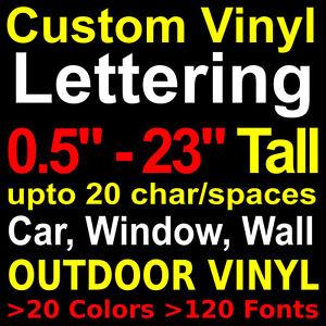 Custom Vinyl Lettering Car Window Boat Sign Wall Outdoor Vinyl - Custom vinyl decals car windows
