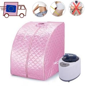 Spa-Vapeur-Complet-Sauna-Therapeutique-Portable-gt-Bien-Etre-et-Detoxifiant-Rose