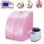 Spa-Vapeur-Complet-Sauna-Therapeutique-Portable-gt-Bien-Etre-et-Detoxifiant-Rose thumbnail 1