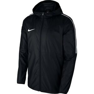 Nike-Mens-Dry-Park18-Football-Rain-Coat-Jacket-Hoodie-Waterproof-Windproof-Black