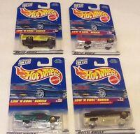 Hot Wheels 1998 Low 'n Cool Series Lot Of 4