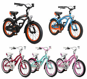 Dettagli Su Bikestar Biciclette Per Bambini Bici Bimbo Bimba Da 4 Anni 16 Pollici Cruiser