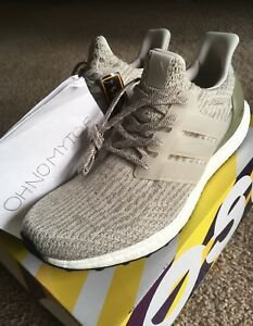 Men s Adidas Ultra Boost 3.0 DS Size 11 Pearl Grey Olive Cream ... a14708ba297a