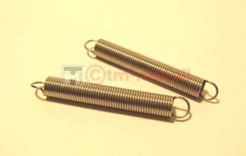 d= 0,8 mm ø 7,5 mm Feder VA 54 mm lang Zugfeder