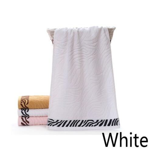 1x En Coton Doux Absorbant Tigre Motif Bambou Fibre Serviette de bain Home Serviette à main