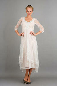 35c1594663 Image is loading Nataya-Romantic-40163-Ivory-Peach-Downton-Abbey-Party-