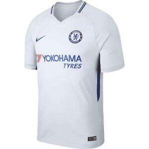 Nike Chelsea Fc Season 2017 2018 Away Soccer Jersey Brand New White Royal Blue Ebay
