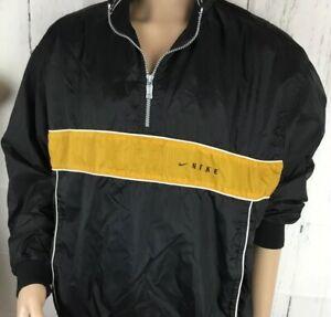 68ab33aaa33d Vintage Nike Jacket Windbreaker 1 2 Zip Pullover Lined Retro 90s ...
