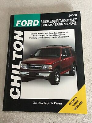 chilton repair manual 19911999 ford ranger pickup explorer w/ wiring  diagrams  ebay