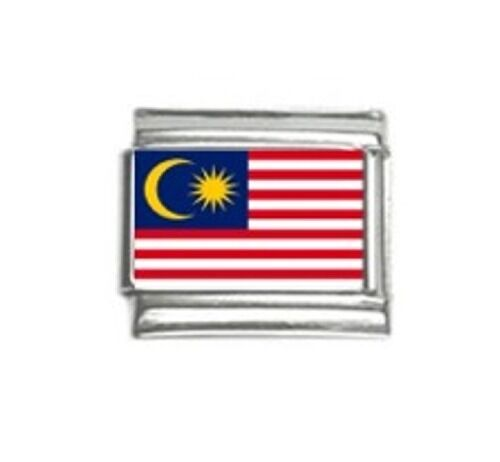 Italian Charms Charm Flags Malaysian Malaysia Flag Malaya