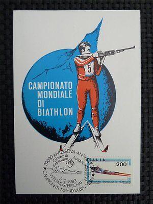 Gerade Italien Mk Italy Sports Biathlon Maximumkarte Carte Maximum Card Mc Cm C1550