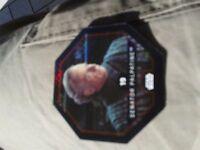 REWE Star Wars Cosmic Shell Glitzer  Nr. 19 SENATOR PALPATINE