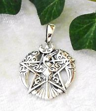 Phoenix Pentagramm Silber 925 Magie Gothic Kelten pentacle pendant Magie Glück