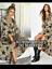 BNWT Boohoo Star /& Leopard Print Ruffle Wrap Maxi  Dress UK 10