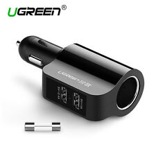 Ugreen Dual Port 3.4A USB Car Charger Adapter For Samsung iPhone HTC Universal