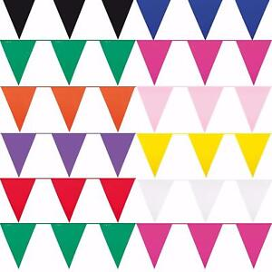 10m-32-ft-Solid-Colour-Bunting-Flag-Banner-Pennant-Party-Decoration-Garland