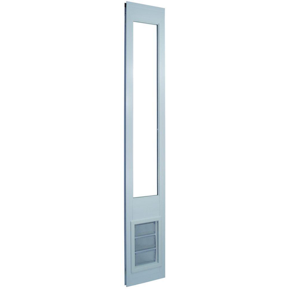 Ideal Vinyl Pet Patio Door, White, Medium Flap Size 6.625  x 11.25 ; Open Box