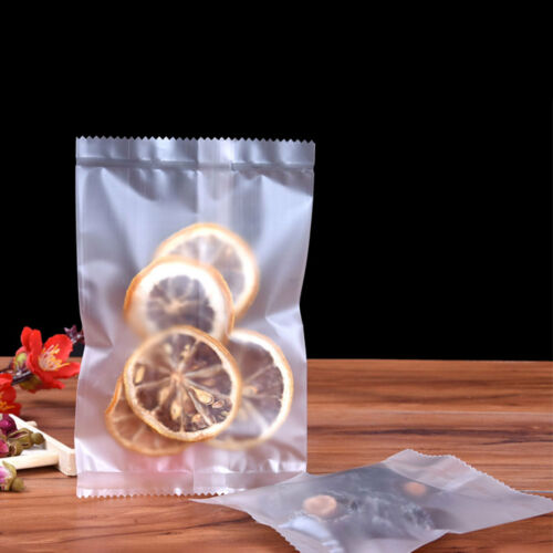 Frosted Clear Plastic Bag Open Top Food Grade Pouch Mid Heat Seal Machine 9 Size