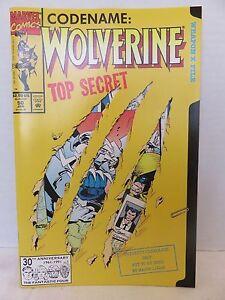 Marvel-Comics-CODENAME-WOLVERINE-Top-Secret-50-Jan-039-91-WEAPON-X-FILE-Cut-Out