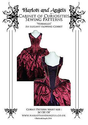 Corset Sewing pattern. Steampunk, Burlesque Gothic Stunning Rococo style medium