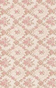 Klebefolie-Biedermeier-Blumenranken-rosa-Vintage-Moebelfolie-selbstklebend-Retro