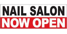 Nail Salon Now Open Vinyl Banner Sign 2x8 Ft Wrb