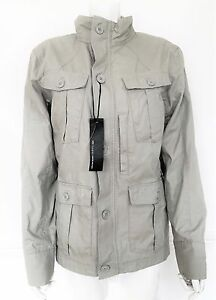 "BNWT Mens M&S AUTOGRAPH 100% beige cotton military jacket size Small 37"" chest"