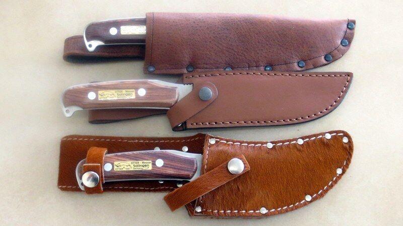 Skinner-Fahrten- Jagdmesser  mit Scheide Made in Germany Rostfrei