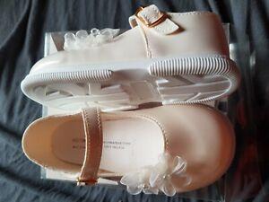 meilleur prix pour professionnel Quantité limitée Détails sur Chaussure cérémonie mariage baptême enfant fille bébé ivoire  verni en 20