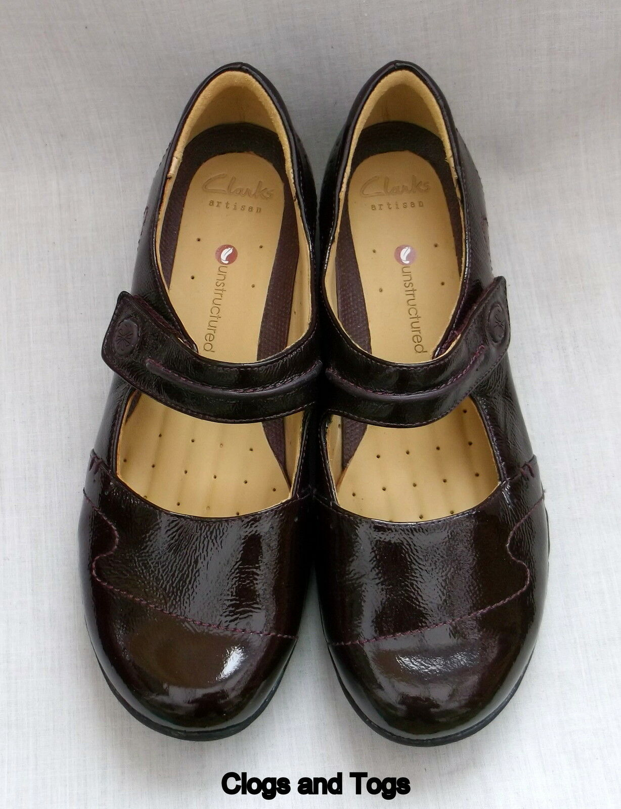NEW HELMA CLARKS UNSTRUCTUROT UN HELMA NEW BURGUNDY PATENT LEATHER Schuhe a4234b
