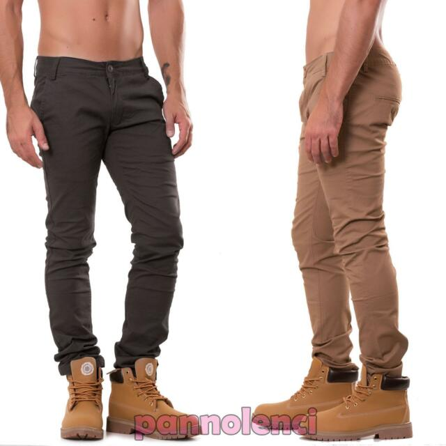 Jeans uomo pantaloni slim denim vari colori regolare nuovi AD9592