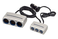 Pyle Pl12v3p Plug In Car 1 To 3 Cigarette Lighter Multiplier And Power Control on sale