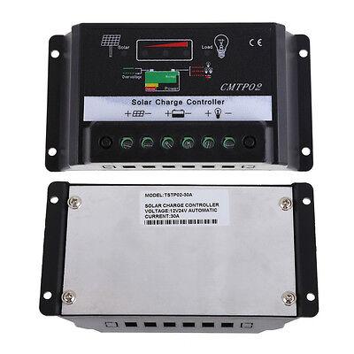 10A/30A MPPT Solar Panel Battery Regulator Charge Controller 12V 24V Auto Switch