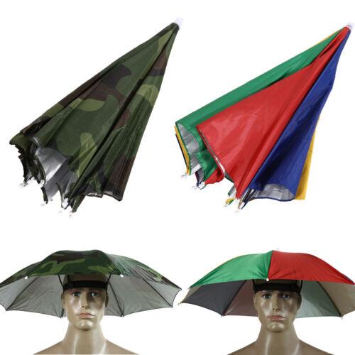 65cm Regenschirm-Hut Cap Sonnenschutz Camping Fischen Wandern Außen Brolly