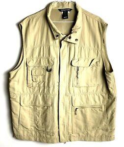 Fieldline-Khaki-Hunting-Safari-Vest-Mens-XL-2XL-Multi-Pocket-Gamebag-Photography