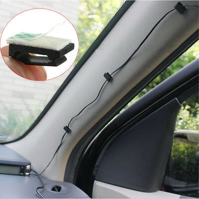 For Car DVR Detector GPS 20pcs 3M Self-adhesive Wire Tie Cable Clamp Clip Holder